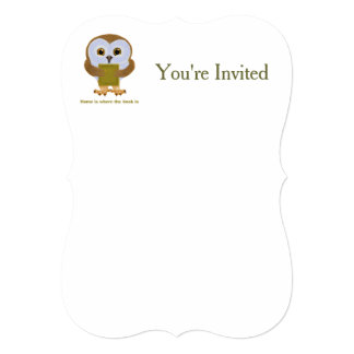 Home Is Where the Book Is 5x7 Paper Invitation Card