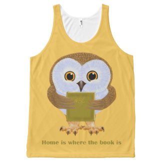 Home is where the book is All-Over-Print tank top
