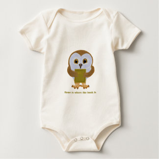 Home Is Where the Book Is Baby Bodysuit