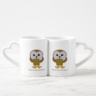 Home Is Where the Book Is Couples Coffee Mug