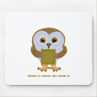 Home Is Where the Book Is Mouse Pad