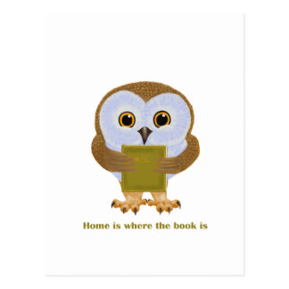 Home Is Where the Book Is Postcard