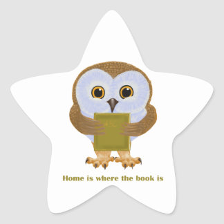 Home Is Where the Book Is Star Sticker