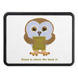 Home is where the book is tow hitch cover