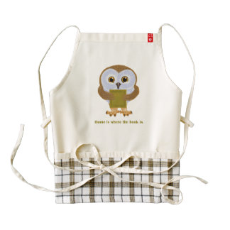 Home is where the book is zazzle HEART apron