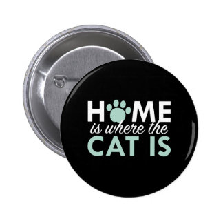 Home Is Where The Cat Is Button