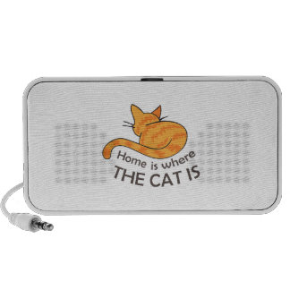 HOME IS WHERE THE CAT IS MP3 SPEAKERS