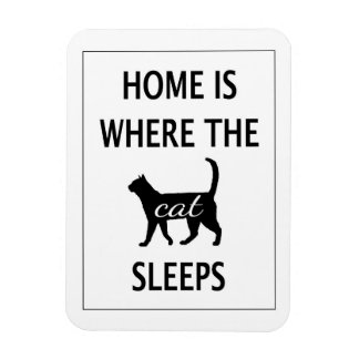 Home is Where the Cat Sleeps Magnet