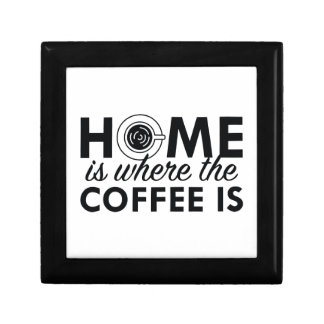 Home Is Where The Coffee Is Jewelry Box