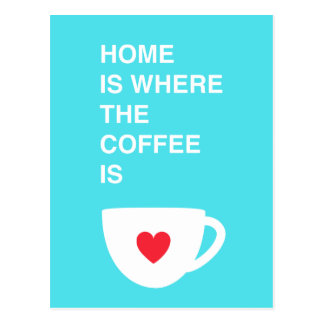 Home Is Where The Coffee Is Postcard