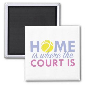 Home Is Where The Court Is 2 Inch Square Magnet