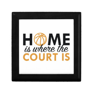 Home Is Where The Court Is Keepsake Box