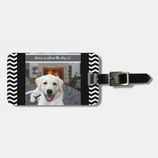 Home is where the dog is bag tag