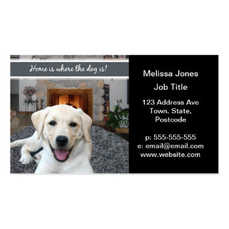 Home is where the dog is business card