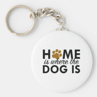 Home Is Where The Dog Is Keychain