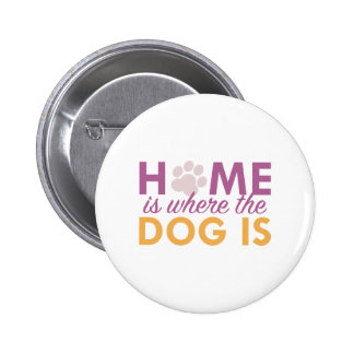 Home Is Where The Dog Is Pinback Button
