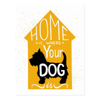 Home Is Where The Dog Is Postcard