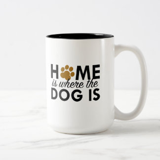 Home Is Where The Dog Is Two-Tone Coffee Mug
