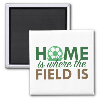 Home Is Where The Field Is 2 Inch Square Magnet