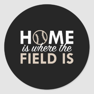 Home Is Where The Field Is Classic Round Sticker