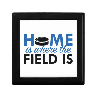 Home Is Where The Field Is Keepsake Box