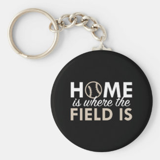 Home Is Where The Field Is Keychain