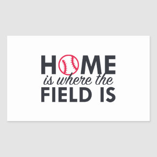 Home Is Where The Field Is Rectangular Sticker