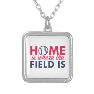 Home Is Where The Field Is Silver Plated Necklace