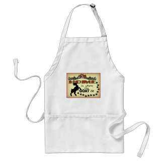 HOME IS WHERE THE GOAT IS ADULT APRON