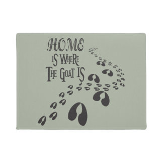 Home is Where the Goat IS CHOOSE COLOR Doormat