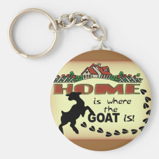 HOME IS WHERE THE GOAT IS KEYCHAIN
