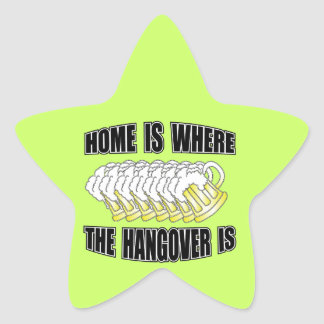 Home is Where the Hangover is! Star Sticker