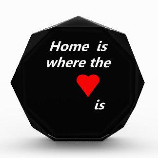 Home is where the heart is acrylic award