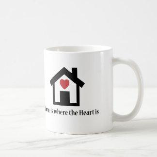 Home is where the heart is classic white coffee mug