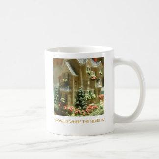 """HOME IS WHERE THE HEART IS"" COFFEE MUGS"