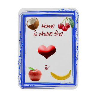 Home is where the Heart is Flexible kitchen magnet