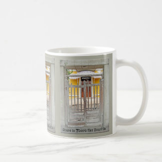 Home is Where the Heart Is - Gate to an Old House Coffee Mug