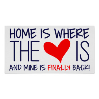 HOME IS WHERE THE HEART IS | HOMECOMING SIGN