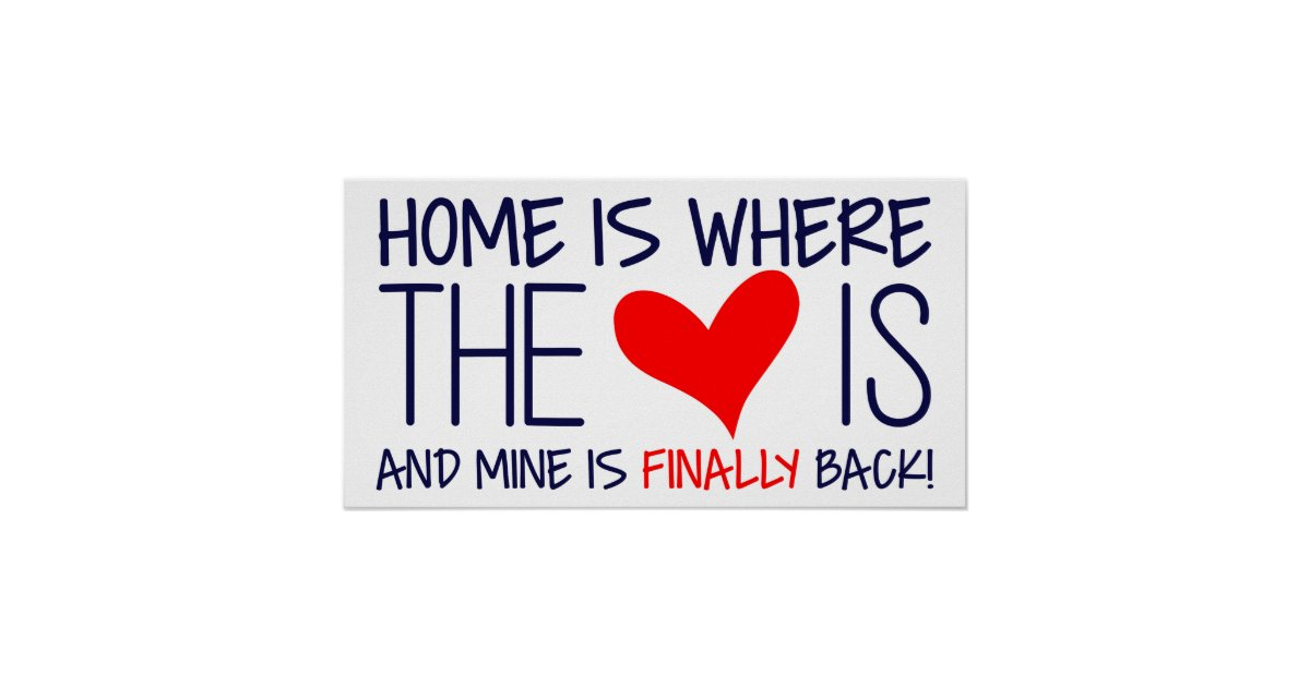 HOME IS WHERE THE HEART IS   HOMECOMING SIGN POSTER   Zazzle