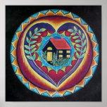 Home is Where the Heart is Mandala Print