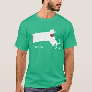 Home is where the heart is - Massachusetts T-Shirt