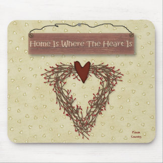 Home Is Where The Heart Is Mousepad