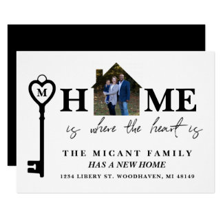 Home Is Where The Heart Is, New Address Photo Card