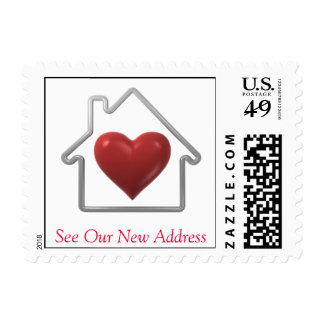 Home is where the heart is - New Address Stamp