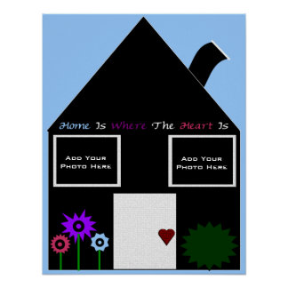Home Is Where The Heart Is Photo Template Print