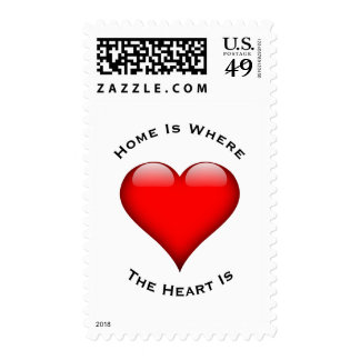 Home Is Where The Heart Is Postage
