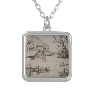 Home is Where The Heart Is Silver Plated Necklace
