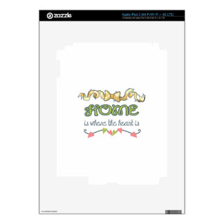 HOME IS WHERE THE HEART IS iPad 3 SKIN