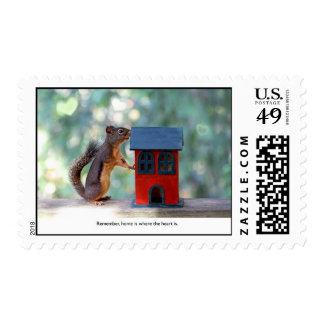 Home is Where the Heart Is Squirrel Stamp