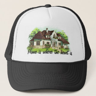Home is where the heart is trucker hat